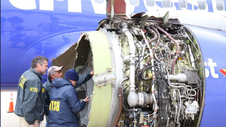 NTSB locates cowling with public's help, shares cockpit recorders, studies Southwest Airlines 737 engine
