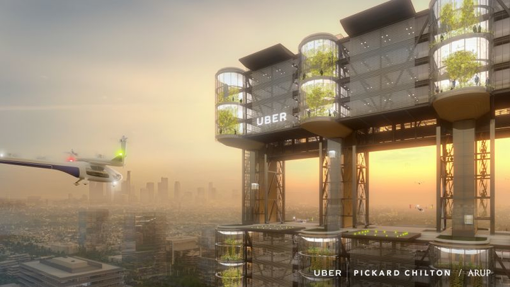 International uberAIR launch city wanted for Uber Elevate urban aerial rideshare or flying taxi program