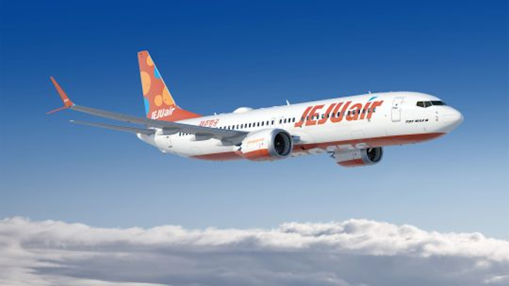Boeing and low-cost South Korean carrier Jeju Air announce order for up to 50 737 MAX airplanes
