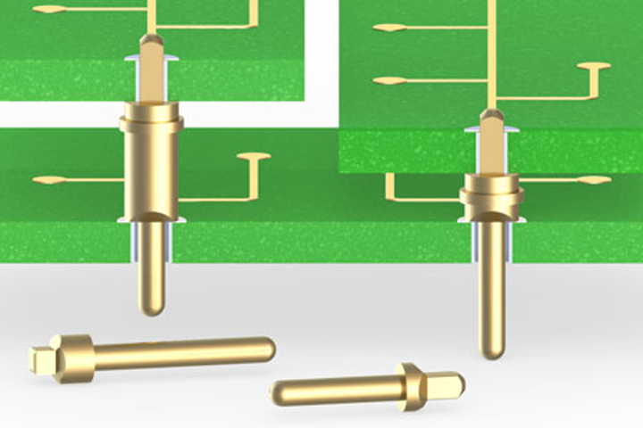 Mill-Max offers four new pins specifically designed for press-fit into PCB plated-through holes