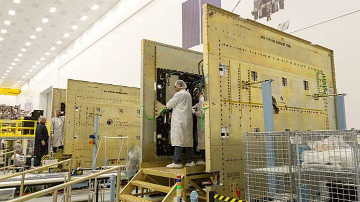 You are here: first Lockheed Martin-built next generation GPS III satellite responds to commands