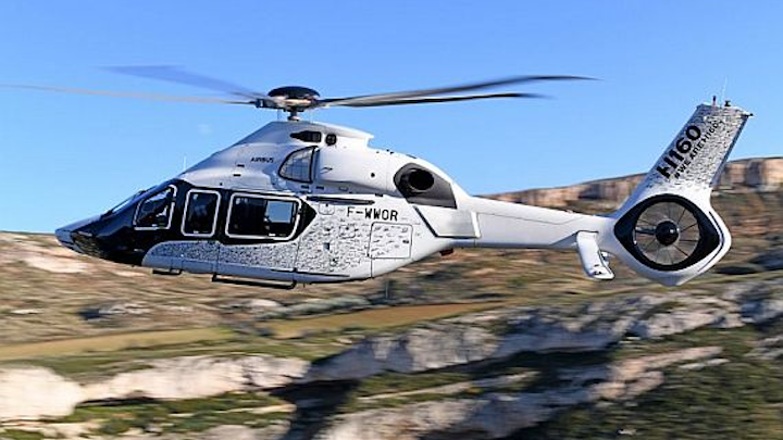Airbus H160 helicopter takes to the skies for the first time