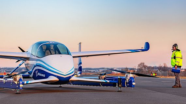 Boeing's electronic VTOL passenger vehicle completes first flight