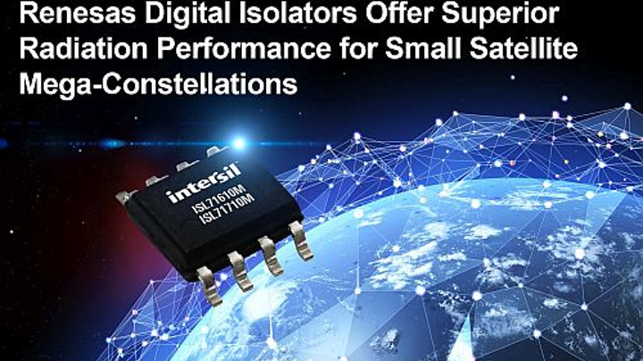 Renesas Electronics launches digital isolators small satellites in low Earth orbit