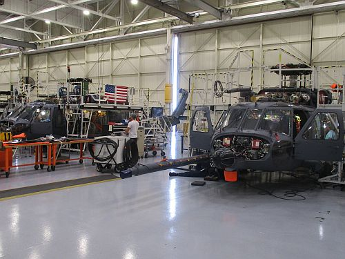 New combat rescue helicopters made by Sikorsky for the USAF prepare for flight test