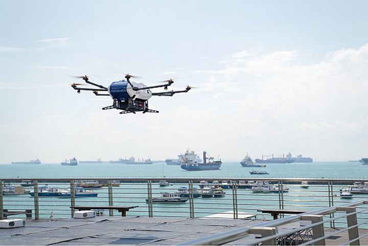 Airbus begins 'shore-to-ship' trials with its Skyways parcel delivery drone