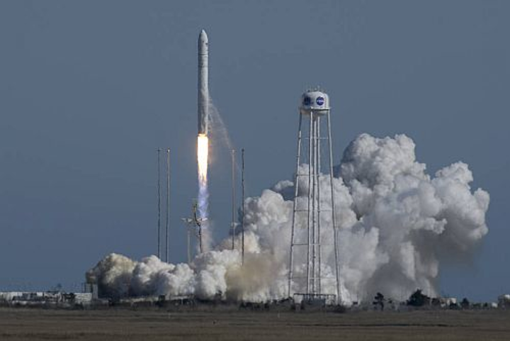 Northrop Grumman's Antares rocket launches with its largest-ever cargo to the International Space Station