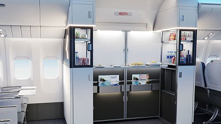 Collins Aerospace new M-Flex Duet galley adds expanded service possibilities without sacrificing seat count