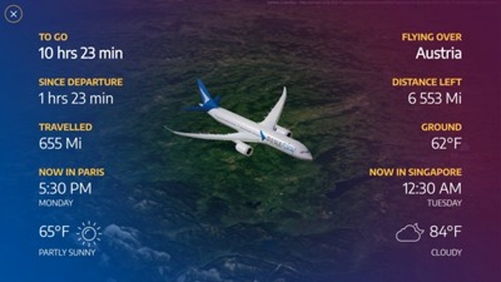 Panasonic launches Arc, its inflight map application