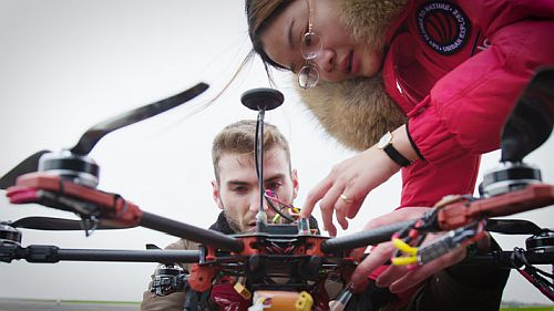 Students and industry collaborate to identify novel tactics in controlling unmanned air vehicles