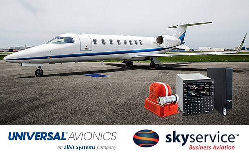 Skyservice receives TCCA and FAA STC approval for Universal Avionics 'NextGen and Beyond' Learjet 45 upgrade