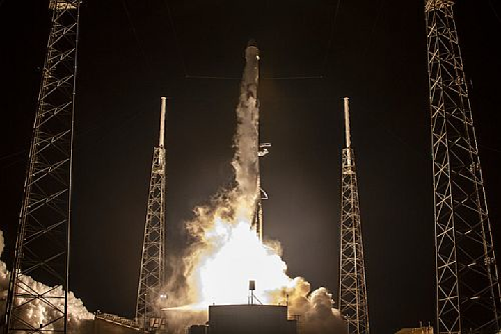 SpaceX launches 17th commercial resupply mission and will join five other spacecraft at the ISS