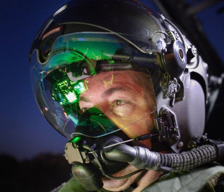 BAE Systems Striker II pilot helmet with HMD, night-vision capabilities
