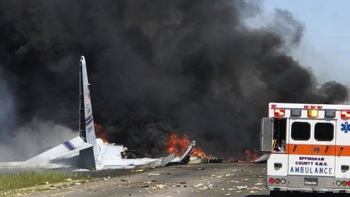 Aging C-130 military aircraft fell out of sky, eyewitnesses say