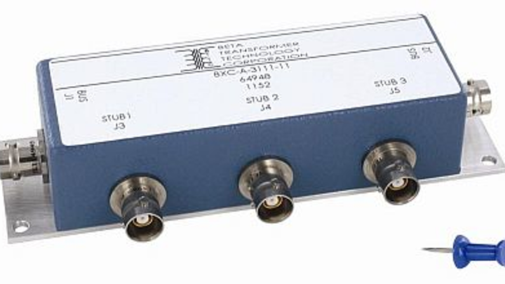 MIL-STD-1553-compatible three-stub box coupler for commercial and military avionics introduced by Beta Transformer