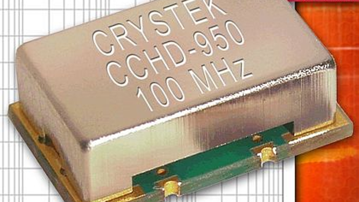 Ultra-low-phase-noise clock oscillator for avionics, test and measurement introduced by Crystek