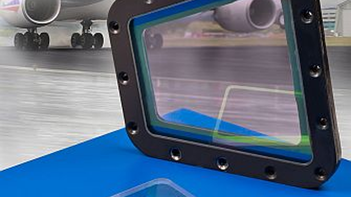Sapphire windows for to protect aircraft sensors from water, wind, and particulates introduced by Meller Optics