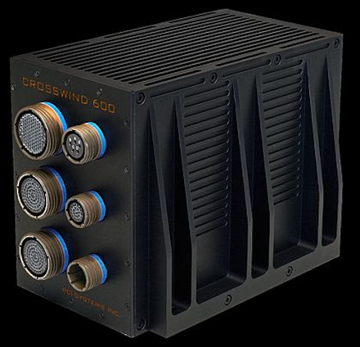 Six-slot 3U VPX rugged computer chassis for avionics and vetronics offered by PCI Systems