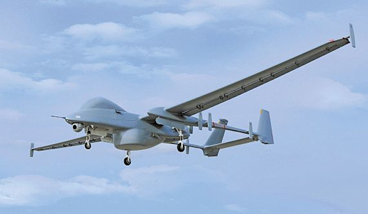 """FARNBOROUGH, England, 14 July 2016. Engineers at Honeywell (NYSE:HON) and Israel Aerospace Industries (IAI) are jointly developing sense-and-avoid capability for IAI's Heron family of unmanned aerial systems (UAS), also known as drones. """"Sense-and-avoid solutions do not currently exist for UASs to operate in a national civilian airspace. With more manned and unmanned vehicles entering that airspace, the need for sense-and-avoid is increasing,"""" explains Carey Smith, president, Defense and Space, Honeywell Aerospace. """"We have decades of experience helping manned aircraft operate safely around the world, and now we're applying that knowledge and inventing new technologies and solutions to create a safer airspace."""" """"Developing a sense-and-avoid system for our Heron UAS is a significant step forward in integrating MALE UAS into civilian airspace,"""" describes Joseph Weiss, president and CEO, Israel Aerospace Industries. """"This collaboration demonstrates IAI's ground-breaking capabilities, innovation and technological development once again. We're excited to work with Honeywell, a leading company in avionics and safety systems, and view this effort as the first step in a series of cooperative efforts."""" The sense-and-avoid system, funded by the Binational Industrial Research and Development (BIRD) Foundation, will be demonstrated for the first time on the Heron medium-altitude, long-endurance (MALE) UAS platform in 2018. The team was selected following a competitive review process that evaluated projects from many companies. The demonstrations and flight tests planned for mid-2018 will be conducted on the IAI Heron 1 UAS. The development work will be executed in Albuquerque, New Mexico; Minneapolis; and Redmond, Washington, as well as in Tel Aviv, Israel. Flight testing will take place in Israeli airspace. Both companies plan for the full sense-and-avoid solution to be integrated into the Heron family of MALE UAS. In the near term, the work will set the foundation for safe op"""