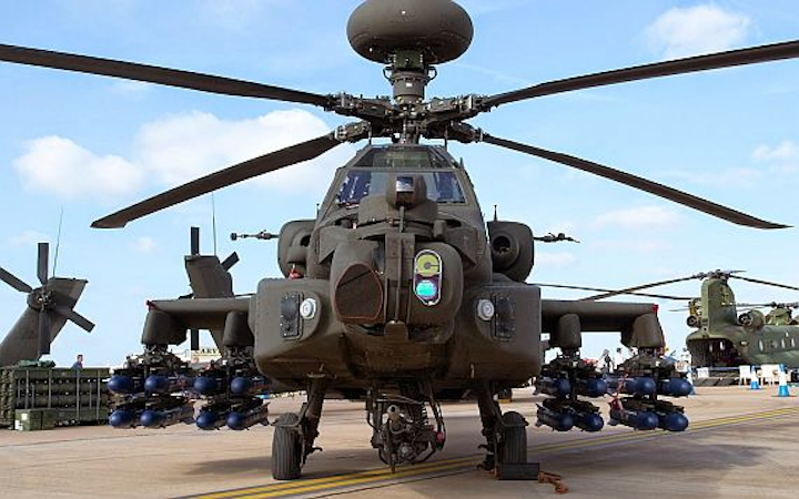Apache attack helicopter crashes during training flight, killing two