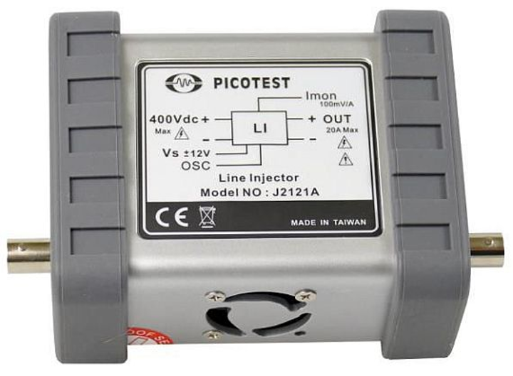Line injector for test and measurement of high-power military and satellite buses introduced by Picotest
