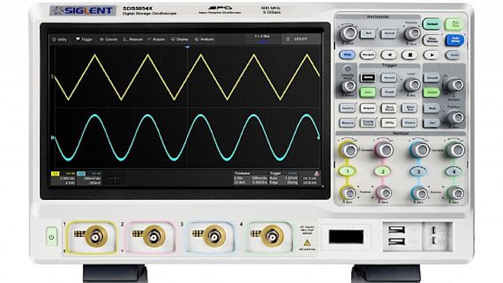Digital storage oscilloscopes for aerospace and defense test and measurement introduced by Saelig