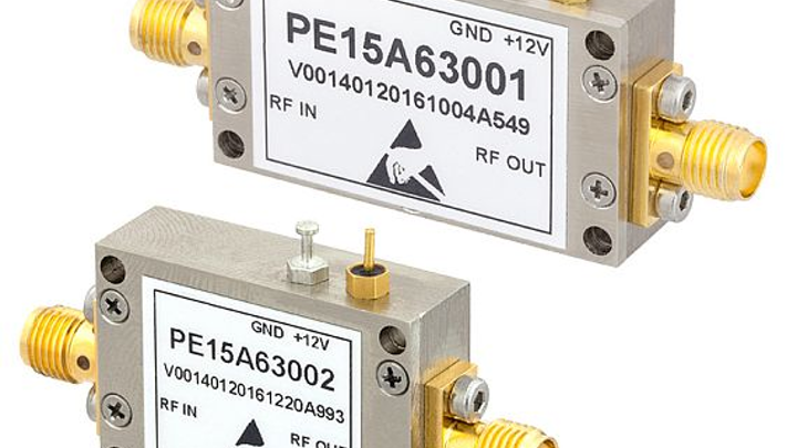Low-noise amplifiers for RF and microwave applications like radar and test systems introduced by Pasternack