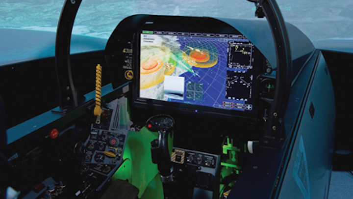 F-35 and F/A-18F flying at Farnborough Airshow with Harris technologies, Zoiss says