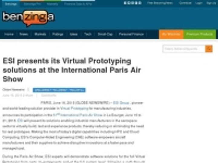 Content Dam Ias En Articles 2015 06 Esi Presents Its Virtual Prototyping Solutions At The International Paris Air Show Leftcolumn Article Thumbnailimage File