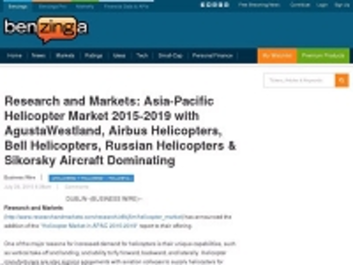 Content Dam Ias En Articles 2015 07 Research And Markets Asia Pacific Helicopter Market 2015 2019 With Agustawestland Airbus Helicopters Bell Helicopters Russian Helicopters Sikorsky Aircraft Dominating Leftcolumn Article Thumbnailimage File