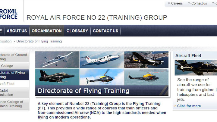 Affinity wins 18-year contract to support U.K. military flight training systems