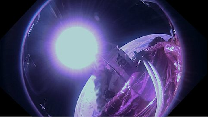 York Space Systems' S-CLASS captures its first sunrise shot from orbit.