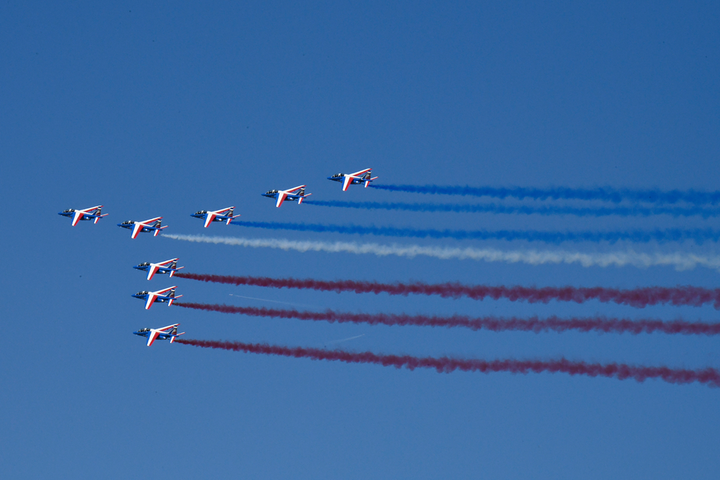The French Armée de l'Air started off the Paris Air Show - as well as a presidential visit to it - Monday morning. Boeing forecasts a robust and growing military and commercial aerospace industry over the next 20 years.