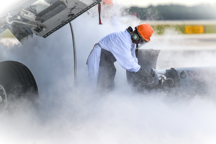 Senior Airman Daniel Kardas, 437th Aircraft Maintenance Squadron aerospace equipment journeyman, operates ground equipment that replenishes liquid oxygen systems on a C-17 Globemaster III, May 9, 2019, at Joint Base Charleston, S.C. The 437th AMXS is comprised of combat-ready maintainers and support personnel who inspect, service and maintain the assigned C-17 aircraft at JB Charleston.