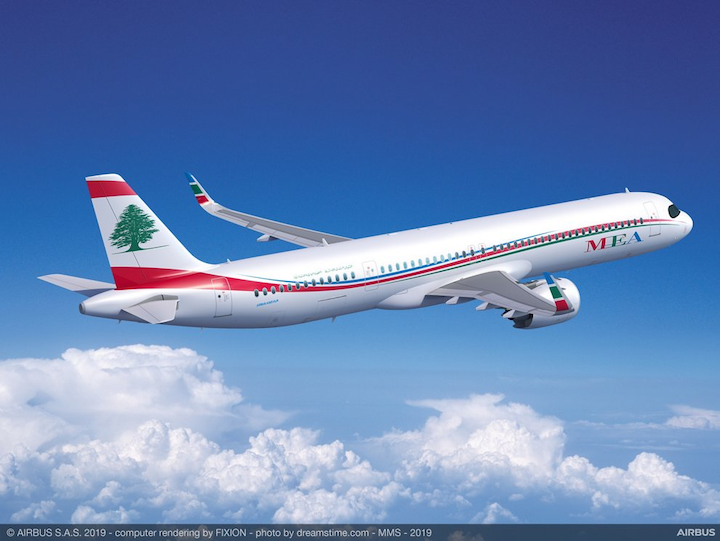 Lebanon's Middle East Air became the first customer for Airbus' A321XLR aircraft, which was announced at the Paris Air Show today.
