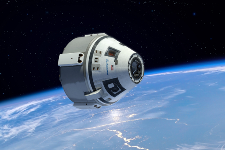 A render of Boeing's Commercial Crew Transportation Capability (CCtCap) spacecraft.