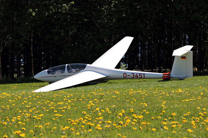 DARPA aims to make unpowered aircraft like this glider out of a polymer that dissolves when exposed to sunlight.