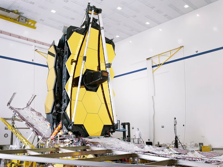 NASA's James Webb Space Telescope fully assembled at Northrop Grumman in Redondo Beach, Calif.