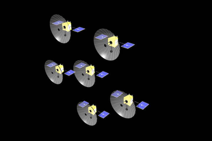 Artist Impression 2 Of An Oberon Project Spacecraft Cluster High Res Copyright Airbus